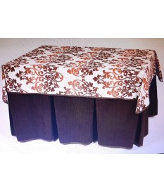 ENAGUA 110*70CM(TAPETE+ENAGUA)COLOR CHOCOLATE TAPETE ESTAMPADO